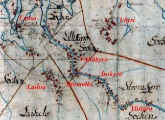 Isokyrön kartta